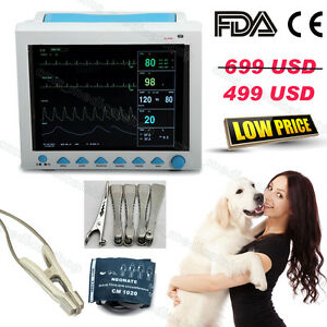 Veterinary Vital Signs Icu Patient Monitor Cms8000vet 6 Parameters pet Care