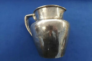 Meriden Brittania Company Sterling Water Pitcher 3 3 4 Pints 12 9 Oz Troy