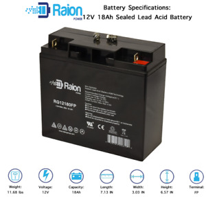Raion 12v 18ah Replacement For Sealake Fm12170e Sealed Lead Acid Agm Battery