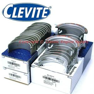 New Clevite 010 Under Rod Main Bearing Set Chevy 350 327 307 305 302 267 265