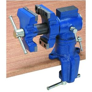 Tough Cast Iron Metal Wood Clamping Table Swivel Vise 2 1 2 Tool Brand New