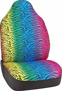 Bell Automotive 22 1 56808 8 Value Line Rainbow Zebra Seat Cover