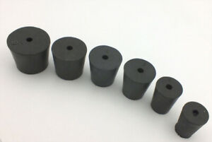 Rubber Laboratory Stoppers 1 hole Assortment In Sizes 1 2 3 4 5 6 rs asst3