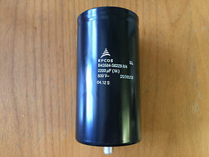 New Epcos 2200 f m 500 V 25 085 65 Screw in Capacitor P n B43584 s6228 m4