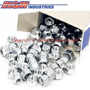 New Box Of 100 Rocker Arm Lock Nuts 6 Cylinder V8 Chevy Sb Engines