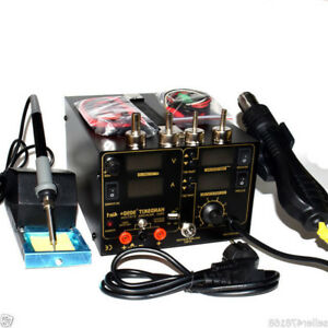 4in1 909d Heat Hot Air Gun 800w 220v Rework Station Soldering Iron Power Supply