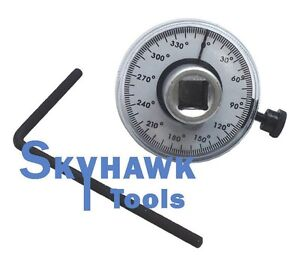 1 2 Dr Torque Angle Rotation Scale Gauge Meter Calibrated 360 Measurer Auto