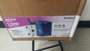 Carlon B121adj 1 gang Non metallic Wall Box With Adjustable Bracket Box Of 40