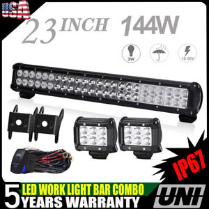 20inch Low Profile Led Light Bar Single Row Ford F 150 Pickup Chevy Gmc
