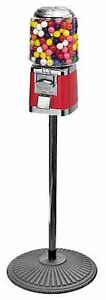 Classic Gumball candy Vending Machine On Iron Pipe Stand Free Shipping