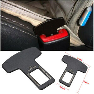 2pc Universal Car Safety Seat Belt Buckle Extender Alarm Stopper Eliminator Clip
