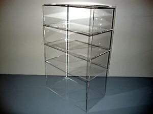 Acrylic Lucite Countertop Display Case Showcase Box Cabinet 12 X 7 X 19