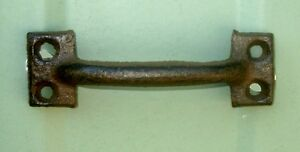 Lot Of 6 Antique Reproduction Small Cast Iron Door Drawer Pull Handles