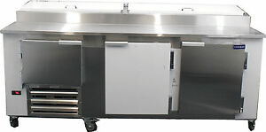 New Coolman 2 1 2 Door Door Refrigerated Pizza Prep Table S s Top 72