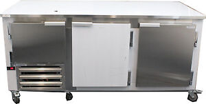 Coolman Commercial 2 1 2 Door Low Boy Worktop Refrigerator 72