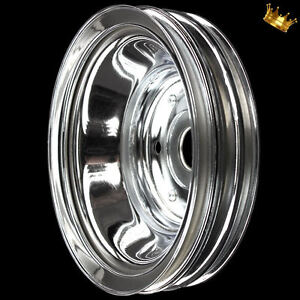 Chrome Small Block 3 Groove Crankshaft Pulley Fits Chevy 327 350 383 400 W Lwp