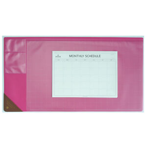 10day Shipping Wide Vintage Desk Pad Hot Pink 25x13 With Monthly Schedulers