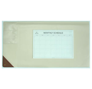 10day Shipping Wide Vintage Desk Pad Ivory 25x13 With Monthly Schedulers