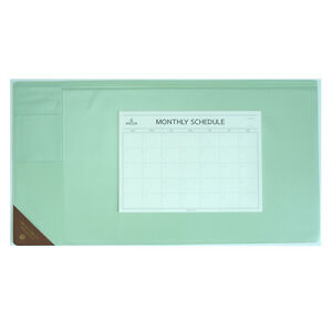 10day Shipping Wide Vintage Desk Pad Mint 25x13 With Monthly Schedulers