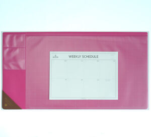 10day Shipping Wide Vintage Desk Pad Hot Pink 25x13 With Weekly Schedulers