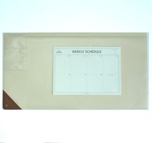 10day Shipping Wide Vintage Desk Pad Ivory 25x13 With Weekly Schedulers