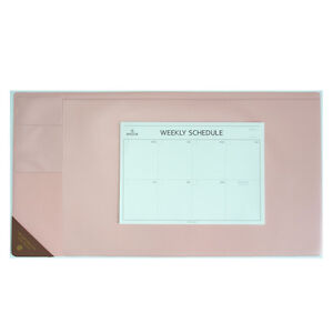 10day Shipping Wide Vintage Desk Pad Pink 25x13 With Weekly Schedulers