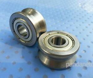 New V Groove 10 30 14mm Track Roller Guide Vgroove Sealed Ball Bearing 2pcs