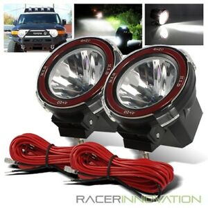 2 X 4 Hi Power 55w Xenon Hid Off Road Atv Tractor Boat Round Flood Beam Lights