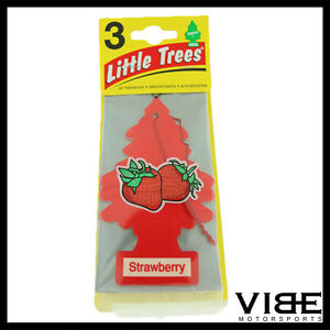Little Trees Car Home Office Hanging Air Freshener Strawberry Pack Of 3