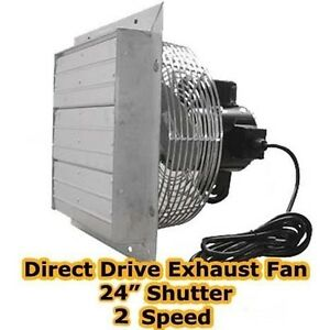 Exhaust Fan 24 Shutter 2 Speed Direct Drive 5 900 Cfm Industrial