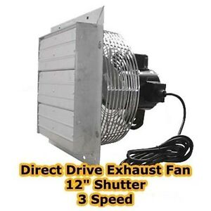 Exhaust Fan 12 Shutter 3 Speed Direct Drive 1115 Cfm 1500 Rpm 115v