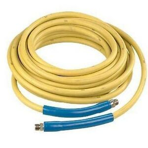 Yellow Non marking Pressure Washer Hose 50 4 000 Psi 3 8 Fittings