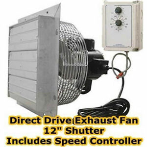 12 Exhaust Fan 1200 Cfm 115 230 Volts Variable Speed Speed Controller
