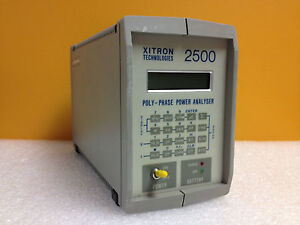 Xitron 2500w Poly phase Power Analyzer Gpib no Batteries Or Charging Port