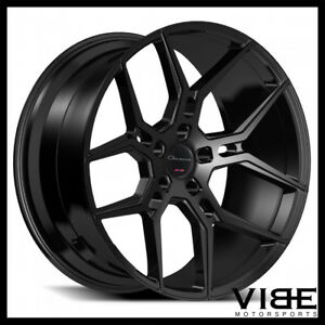 22 Giovanna Haleb Gloss Black Concave Wheels Rims Fits Bentley Continental Gt