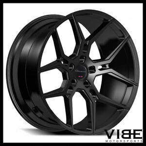 22 Giovanna Haleb Gloss Black Concave Wheels Rims Fits Chrysler 300c 300s 300m