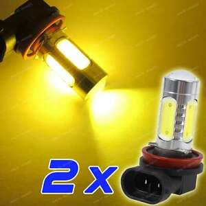 2 Pc Led Fog Light H11 H8 H9 Golden Yellow Amber Color Drl Driving Bulbs La