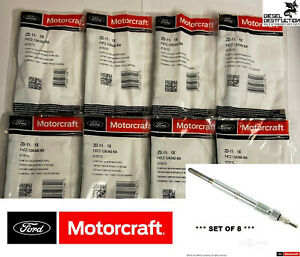 Zd 11 Set Of 8 Oem Genuine Motorcraft Glow Plugs F4tz 12a342 Ba Brand New