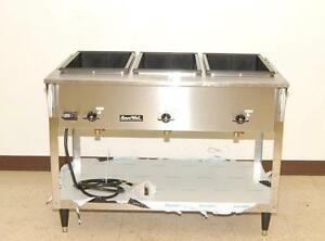 Vollrath Servewell 3 bay Electric Steam Table New 38213