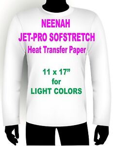 Neenah Jet pro Sofstretch Iron On Inkjet Transfer Paper 11 X 17 50 Count