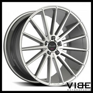 22 Gianelle Verdi Silver Concave Wheels Rims Fits Dodge Charger Rt Se Srt8