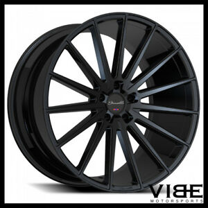 22 Gianelle Verdi Gloss Black Concave Wheels Rims Fits Chrysler 300c 300s 300m
