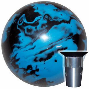 Marbled Black Blue Non Threaded Shift Knob Kit U S Made