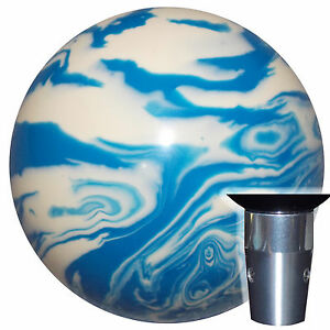 Marbled Blue White Non Threaded Shift Knob Kit U S Made