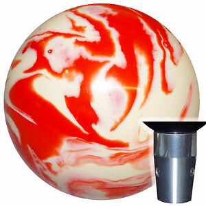 Marbled Orange White Non Threaded Shift Knob Kit U S Made
