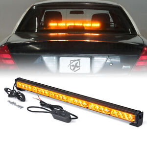 Xprite 27 24 Led Emergency Traffic Hazard Flash Strobe Light Bar Amber Yellow