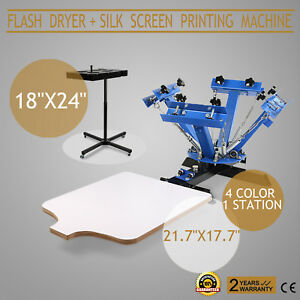 Silk Screen Printing Machine Flash Dryer 4 1 Printer Heating 4 Color Popular