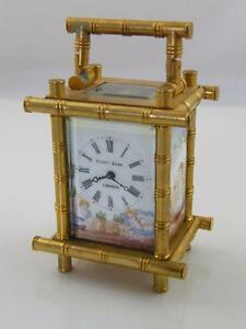 Brass Bamboo Style Carriage Clock