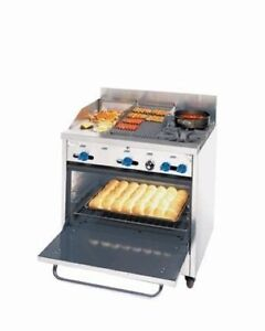 Comstock castle 36 2 burner Gas Range 12 Griddle 12 Charbroiler New