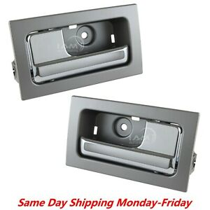 For 09 14 Ford F150 Inside Interior Door Handle Pair Chrome Front rear Left